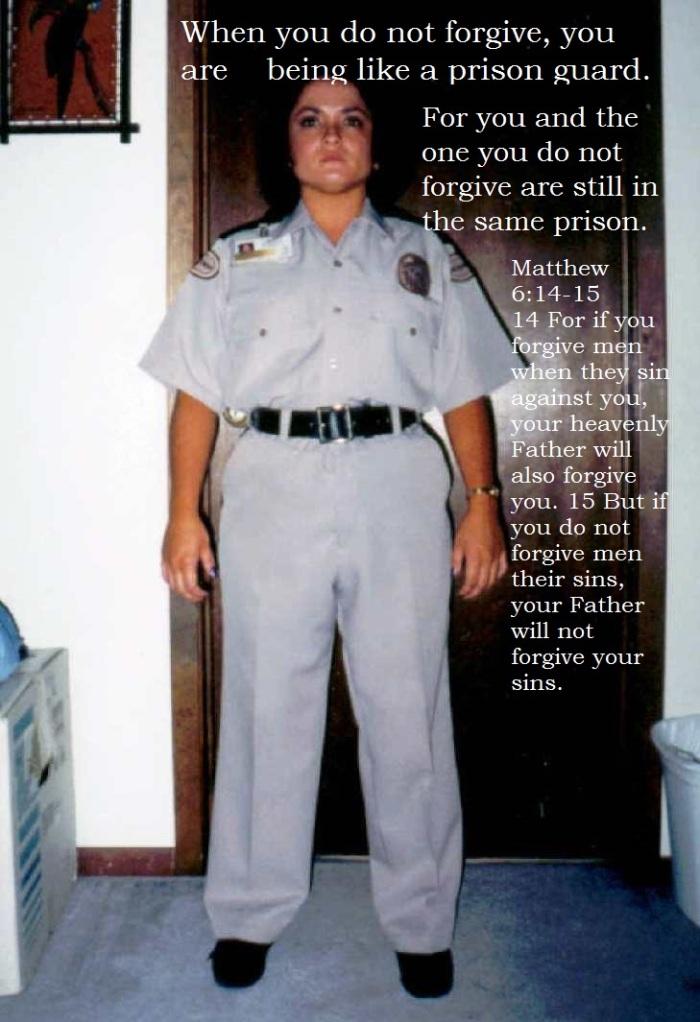 Forgive prison guard