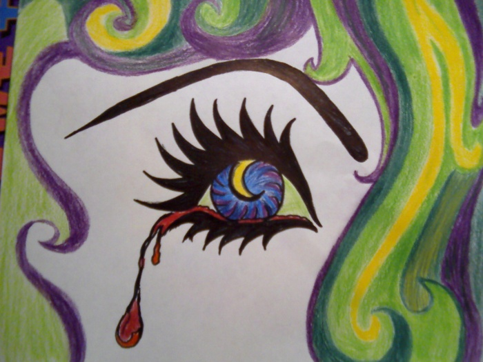 crying eye b