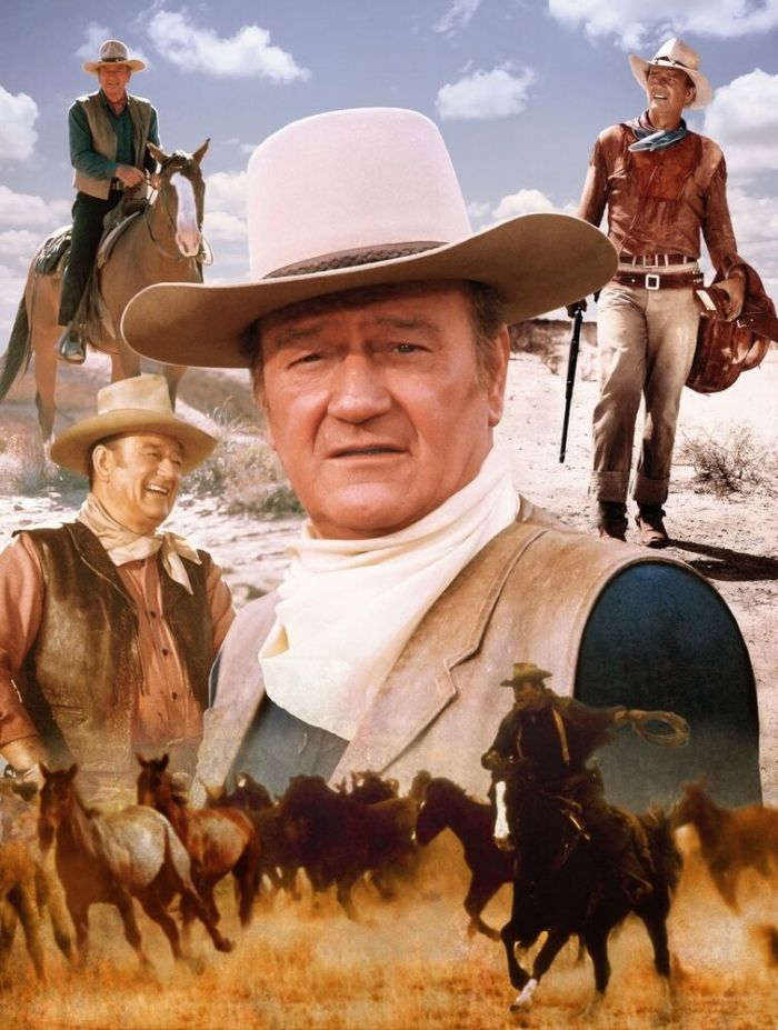 John Wayne collage